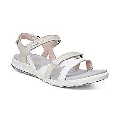 Ecco - White cruise flat sandals