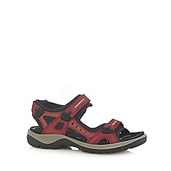 Ecco - Red offroad flat sandals
