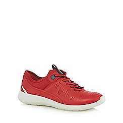 ECCO - Red 'Soft 5' sports trainers