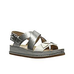 Clarks - Silver Combi'  ALDERLAKE HEAT'  Sandals