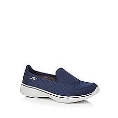 Skechers - Navy 'SKX Go Walk 4' slip on trainers