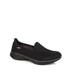 Skechers - Black 'Go Walk 4' slip on trainers
