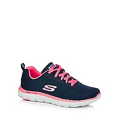 Skechers - Navy 'Flex Appeal' trainers