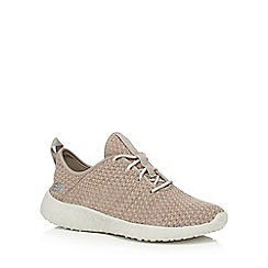Skechers - Taupe 'Burst city scene' trainers