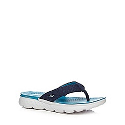Skechers - Blue 'On The Go' flip flops