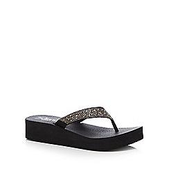 Skechers - Black 'Vinyasa Sun Ray' flip flops
