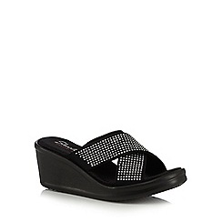 Skechers - Black 'Metal Mama' platform sandals