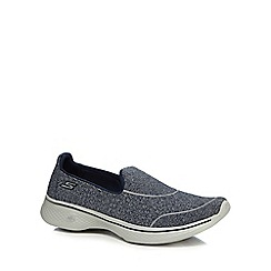 Skechers - Navy 'Go Walk 4' slip-on trainers