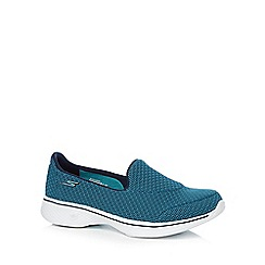 Skechers - Turquoise 'Go Walk 4 Majestic' trainers