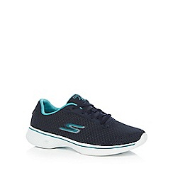 Skechers - Navy 'Go Walk 4 Glorify' trainers