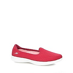 Skechers - Pink 'Go Step Lite' slip on trainers