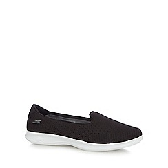 Skechers - Black 'Go Step Lite' slip on trainers