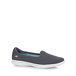 Skechers - Grey 'Go Step Lite' slip on trainers