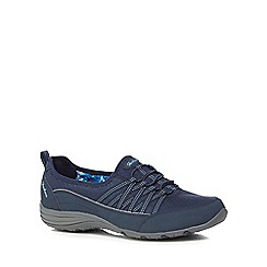 Skechers - Navy 'Unity Go Big' slip on trainers