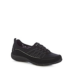 Skechers - Black 'Unity Go Big' slip on trainers