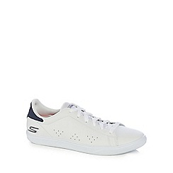 Skechers - White leather 'Go Vulc 2' trainers