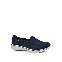 Skechers - Navy slip on trainers