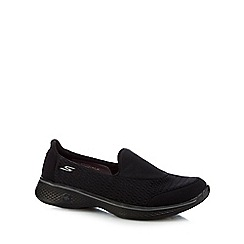 Skechers - Black 'Pursuit' slip-on trainers
