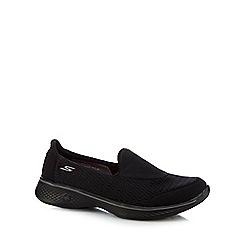 Skechers - Black 'Pursuit' slip-on trainers