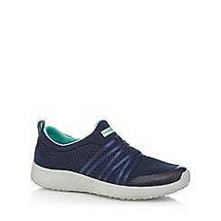 Skechers - Navy 'Burst' slip-on trainers