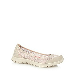 Skechers - Taupe lace 'Ez' pumps