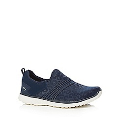 Skechers - Navy 'Microburst Under Wraps' slip on trainers