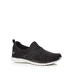 Skechers - Black 'Microburst Under Wraps' slip on trainers