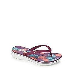 Skechers - Purple 'H2 Goga Lagoon' flip flops