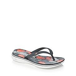 Skechers - Grey 'H2 Goga Lagoon' flip flops