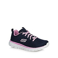 Skechers - Navy 'Graceful' trainers