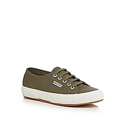 Superga - Dark green canvas 'Cotu Classic' lace up shoes