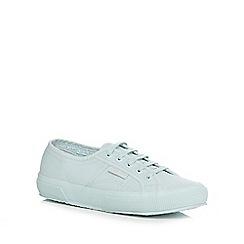 Superga - Light blue canvas 'Cotu Classic' lace up trainers