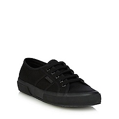 Superga - Black canvas 'Cotu Classic' lace up shoes