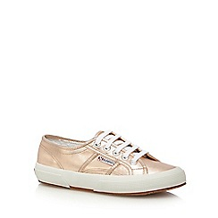 Superga - Gold lace up trainers