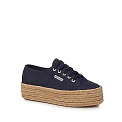 Superga - Blue flatform heel Espadrille trainers