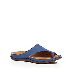 Strive - Blue leather 'Capri' mule sandals