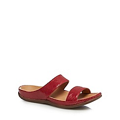 Strive - Red leather 'Lombok' mule sandals