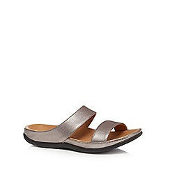 Strive - Metallic leather 'Lombok' mule sandals