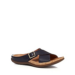 Strive - Navy leather blend 'Maria' mule slippers