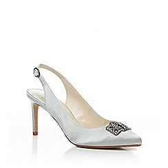 No. 1 Jenny Packham - Pale blue satin 'Passion' high stiletto heel slingback