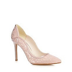 No. 1 Jenny Packham - Natural 'Peggy' lace pointed high court shoes