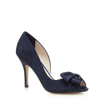 No. 1 Jenny Packham Blue peep toe lace court shoes - . -