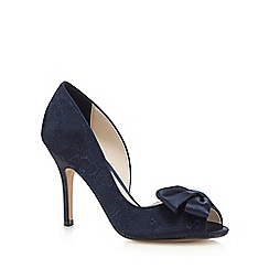 No. 1 Jenny Packham - Blue peep toe lace court shoes
