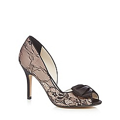 No. 1 Jenny Packham - Blue lace high stiletto heel peep toes