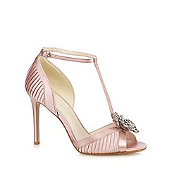 No. 1 Jenny Packham - Pink satin 'Pixie' high stiletto heel T-bar sandals