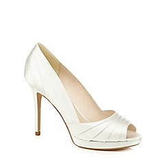No. 1 Jenny Packham - Ivory satin 'Pandora' high stiletto heel peep toe shoes