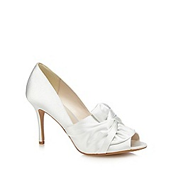 No. 1 Jenny Packham - Ivory satin 'Paige' high stiletto heel peep toe shoes