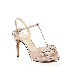No. 1 Jenny Packham - Pink leather 'Pippin' high stiletto heel T-bar sandals