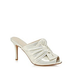 No. 1 Jenny Packham - Ivory 'Piper' bow high mule sandals