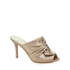No. 1 Jenny Packham - Taupe 'Piper' bow high mule sandals
